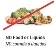 Do not recycle food or liquids