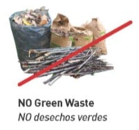 Do not recycle yard waste