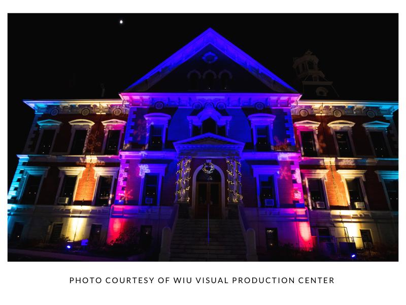Christmas lights City Hall Macomb IL