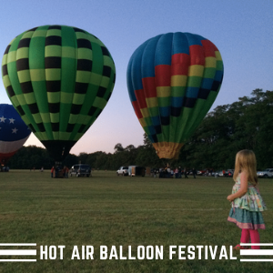 Hot air balloons with children