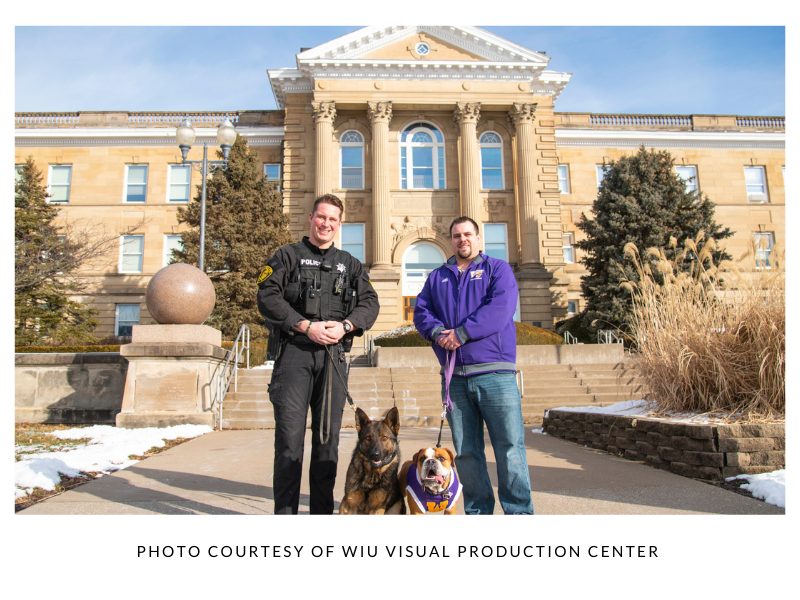 Police and WIU with their dogs