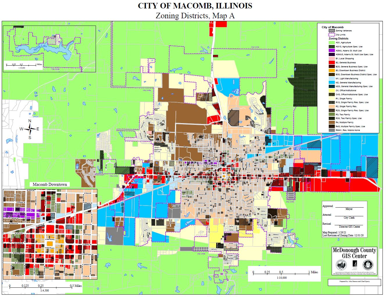 City of Macomb, Illinois - Zoning Map A